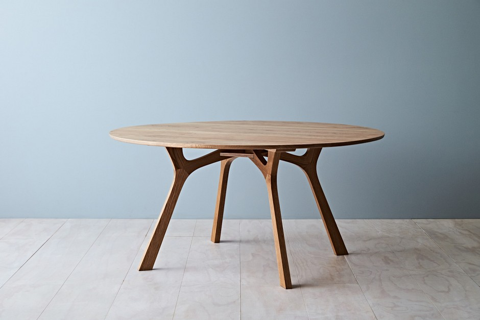 Lyssna round dining table tide design handmade furniture for Php table design