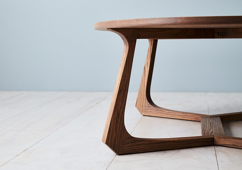 Maya Oval Coffee Table by TIDE Design. Design Detail.