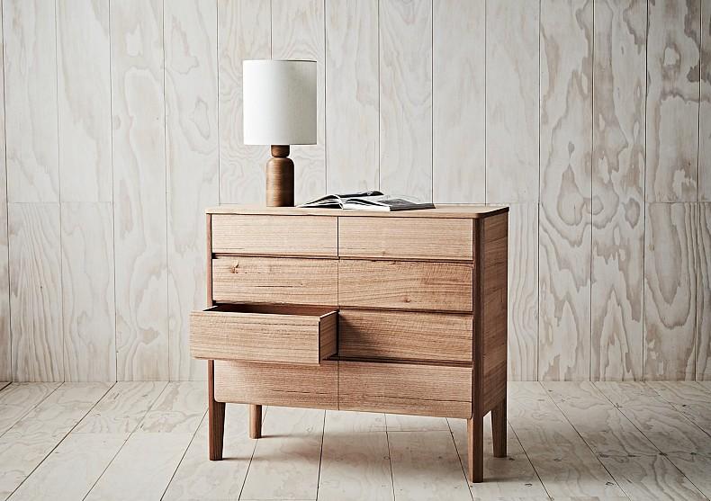 Kuri Dresser - in Tasmanian Oak. By TIDE Design, Melbourne.