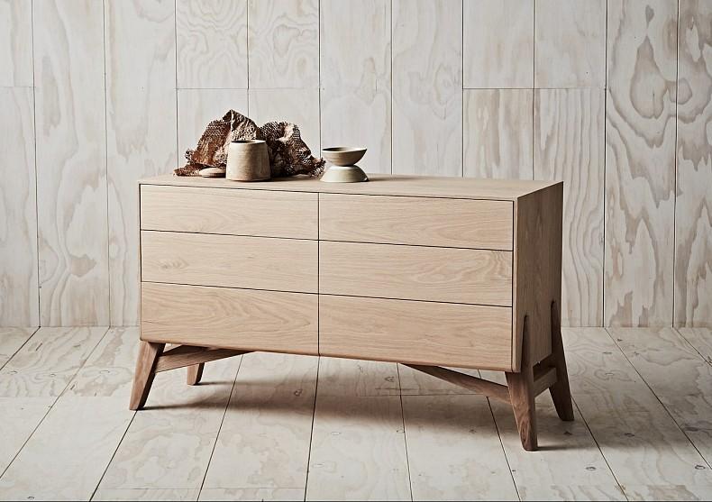 Tuki Dresser in American Oak - TIDE Design, Melbourne.