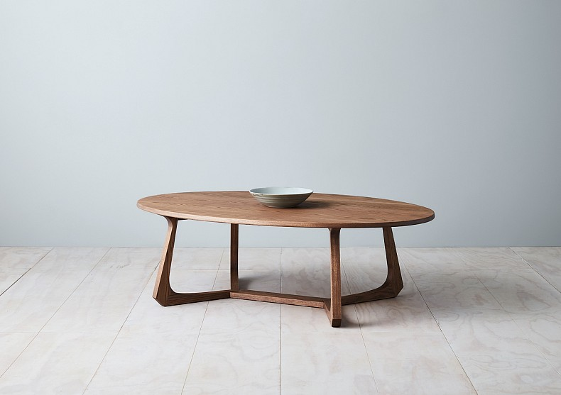 Maya Oval Coffee Table by TIDE Design. Made in Melbourne, Australia